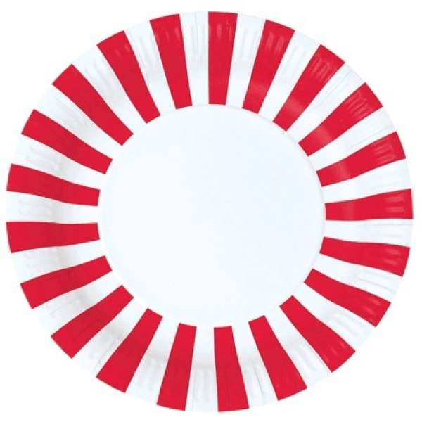 strawberry party plates
