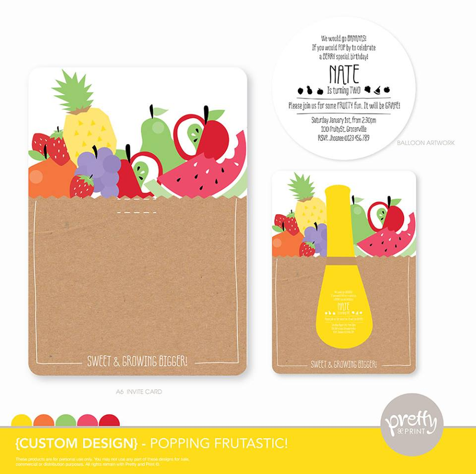 fruit salad invitations