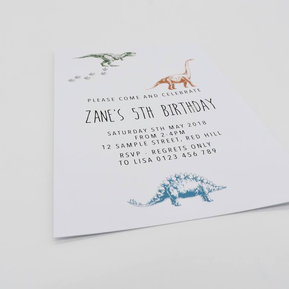Dino Party Custom Dinosaur Invitations