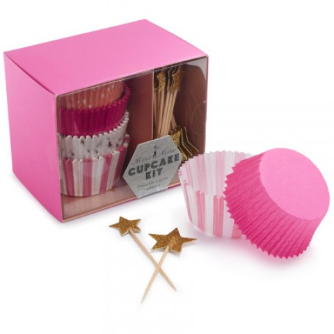 pink and gold cupcake cases