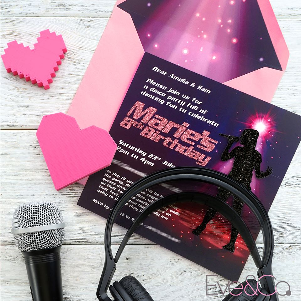 personalised disco party invites