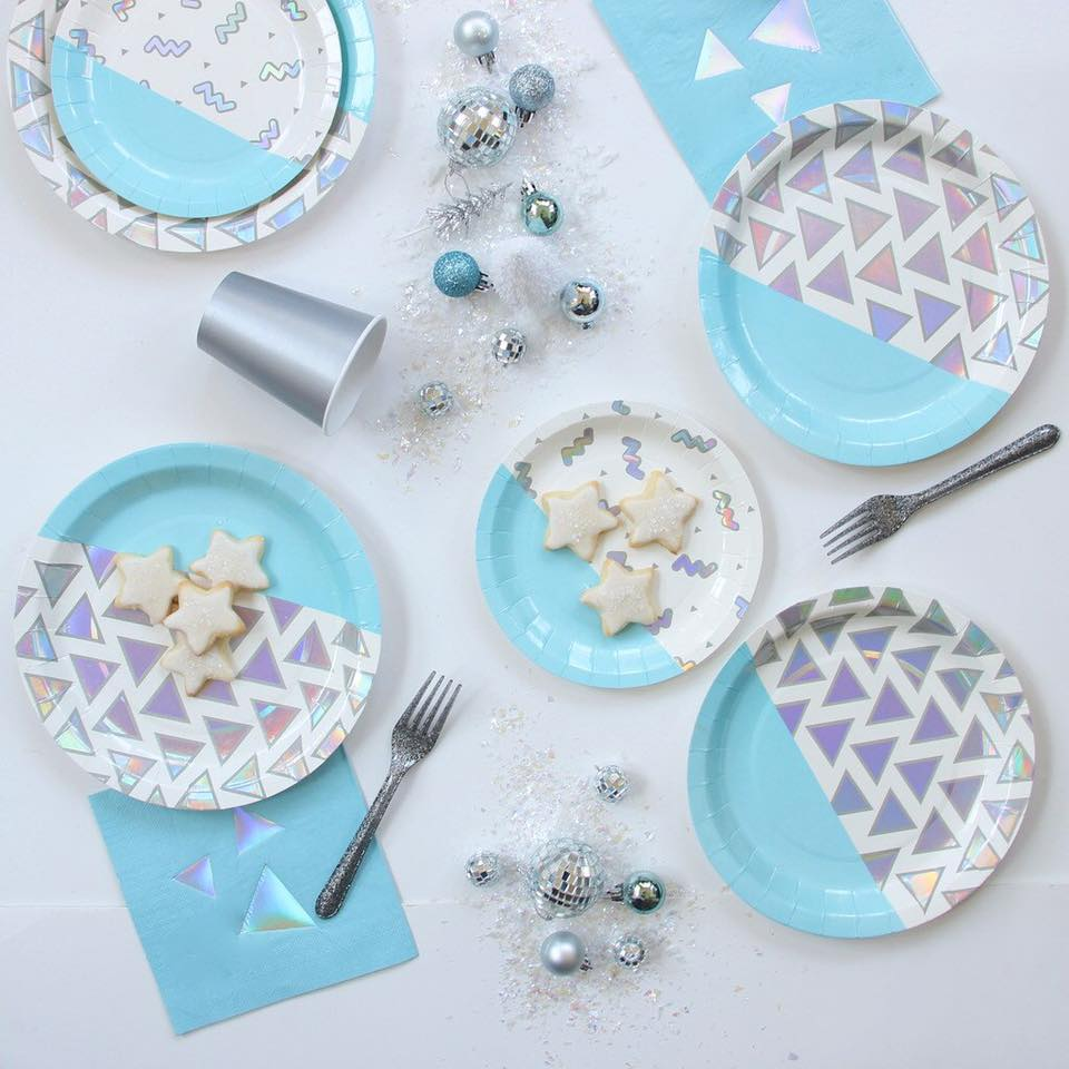 disco party tableware