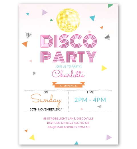 disco party invites