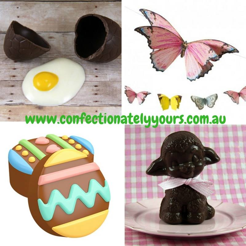 easter themed chocolate moulds