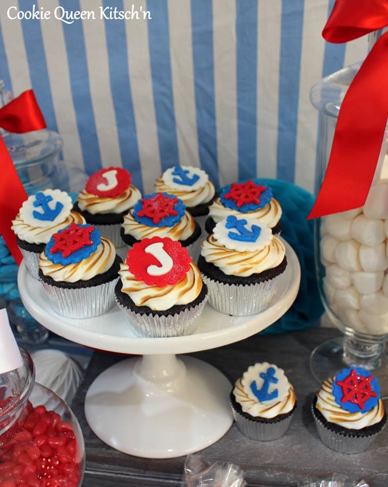 nautical theme cupcakes
