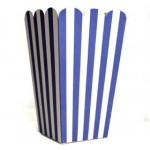 blue striped treat boxes