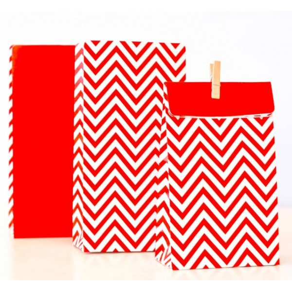 chevron treat bags