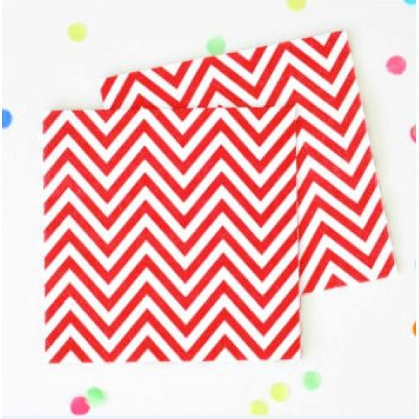 red chevron napkins