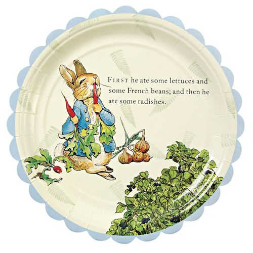 peter rabbit themed tableware