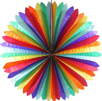 rainbow fan decorations