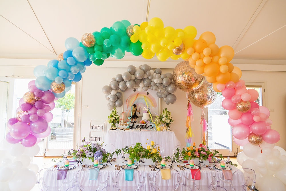 rainbow party styling