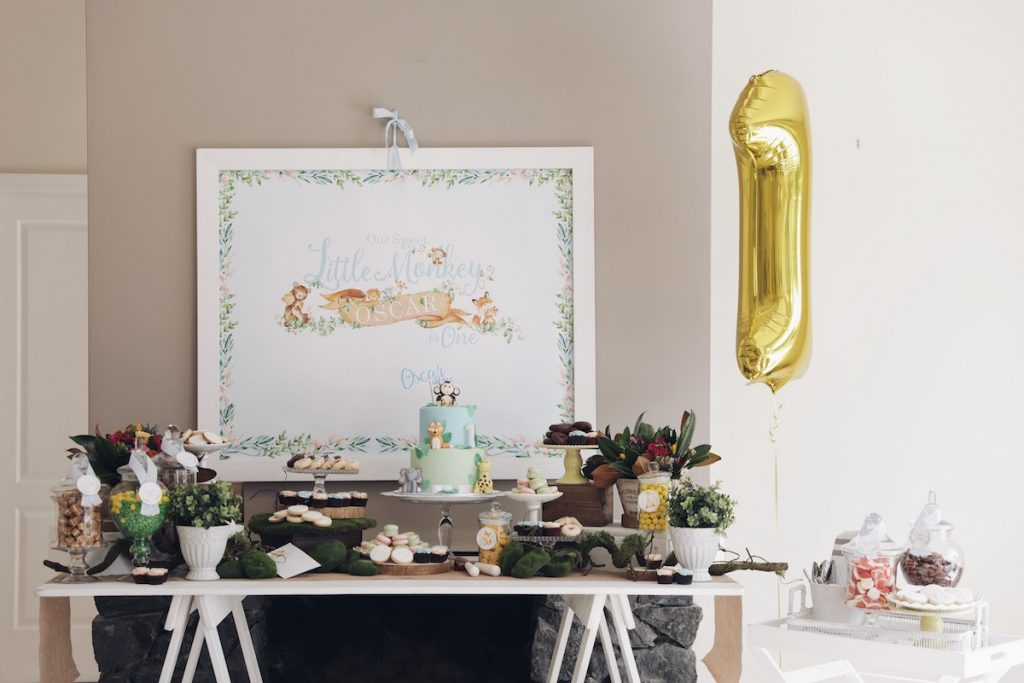 woodland party styling