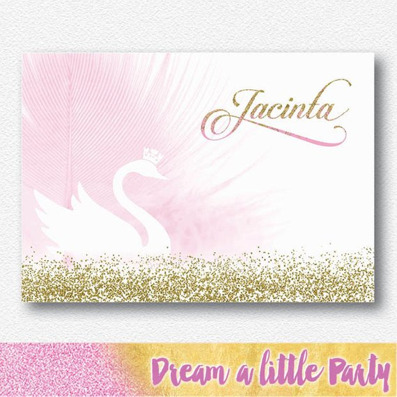 swan party theme backdrop