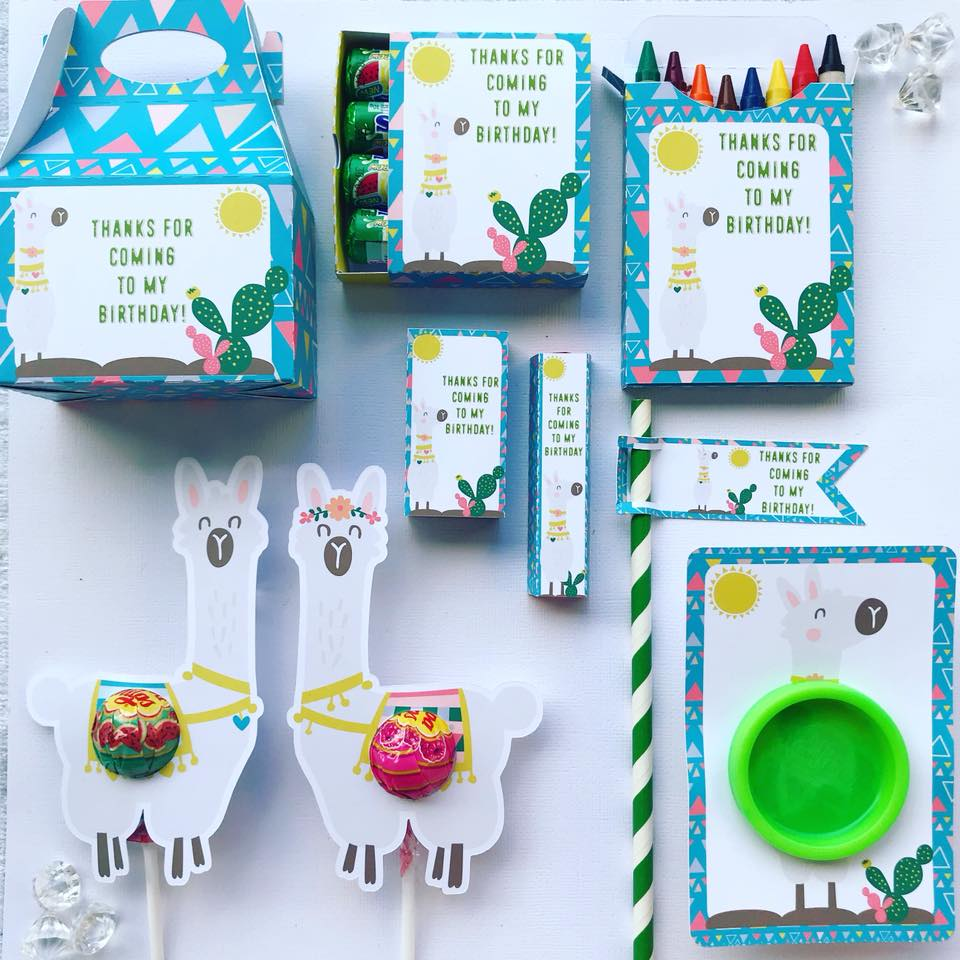 llama party favours