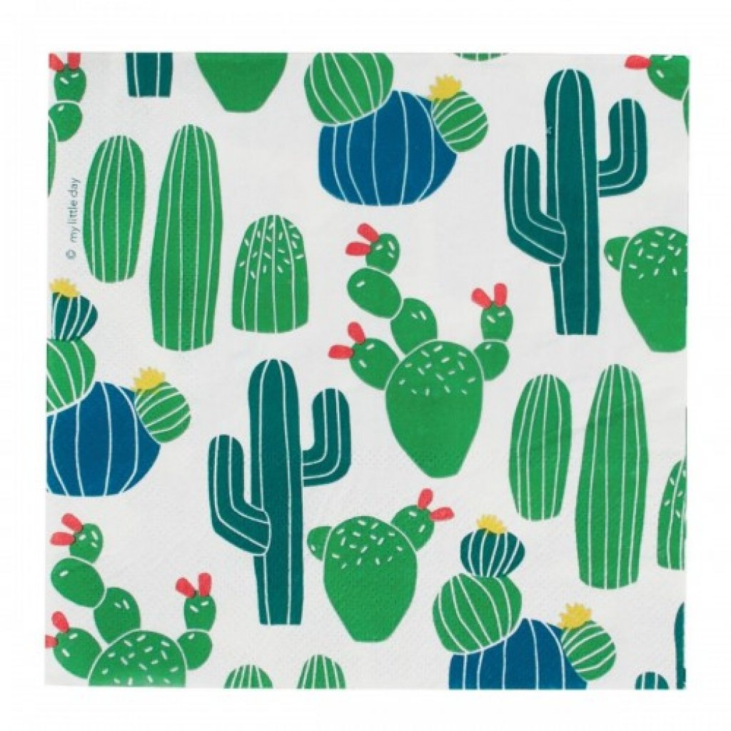 cactus party tableware