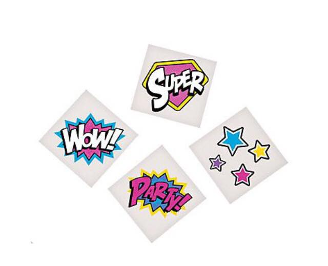 super girl party favours