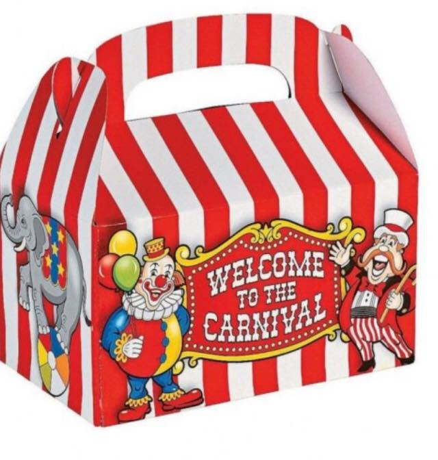carnival party treat boxes