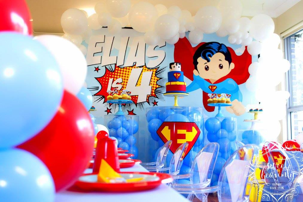 kids superhero party styling