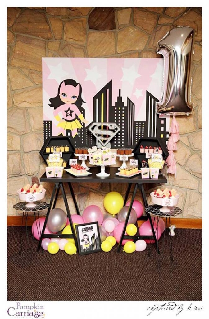 girls superhero party ideas