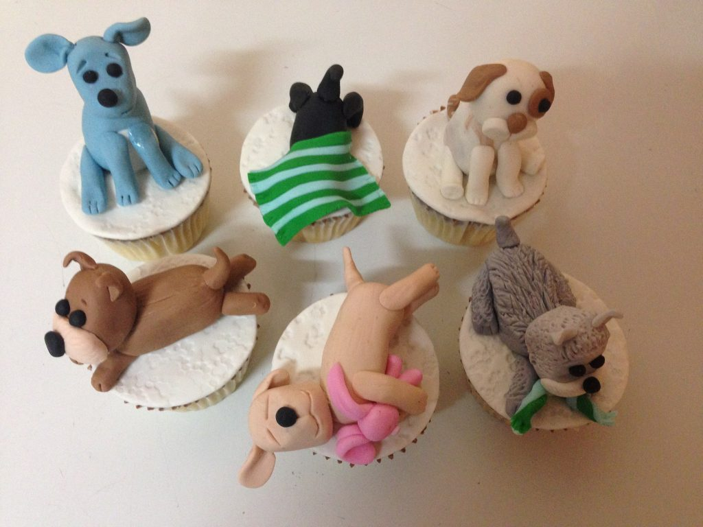 puppy cake toppers