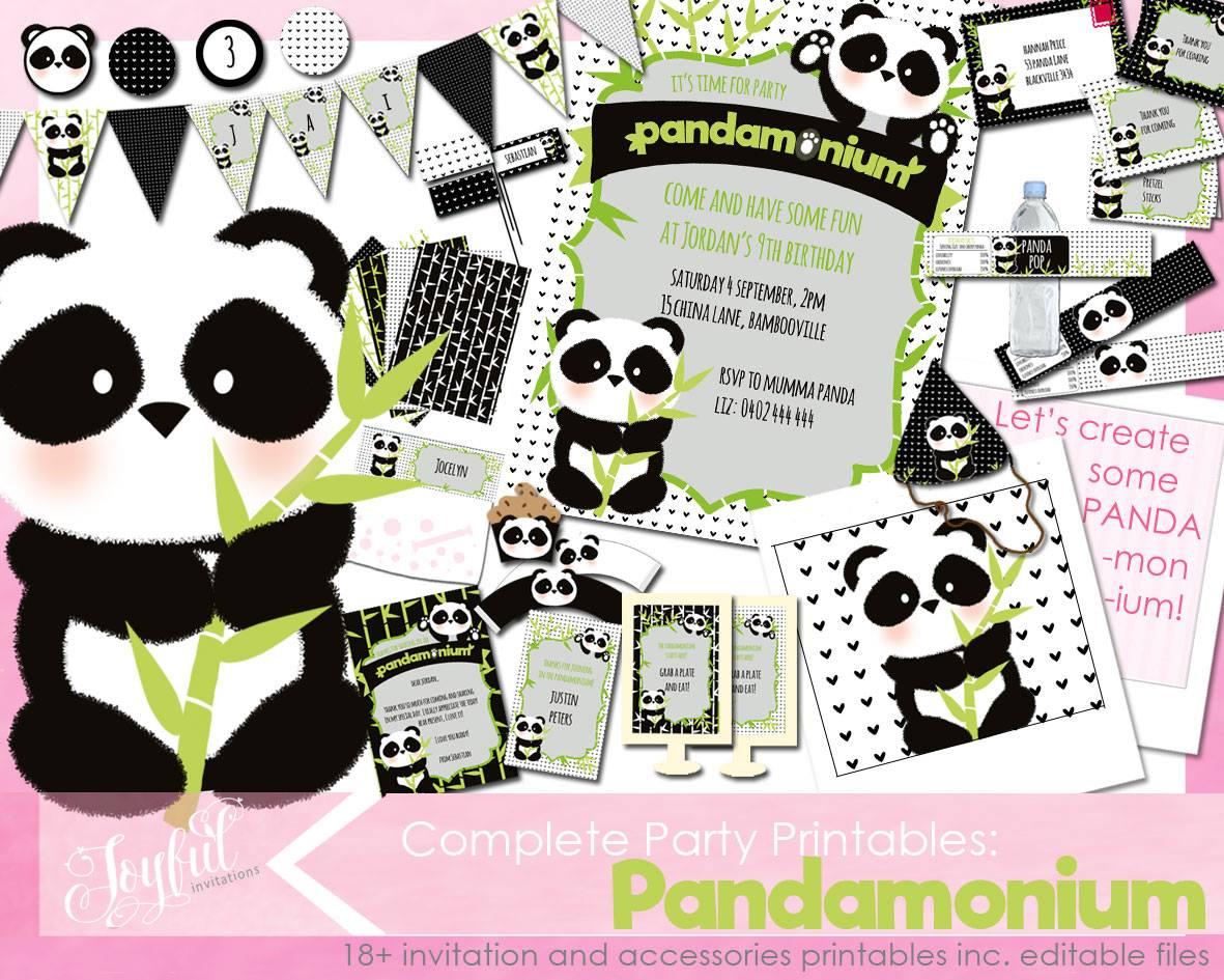 Panda Bear Invitations Free Printable Xw78